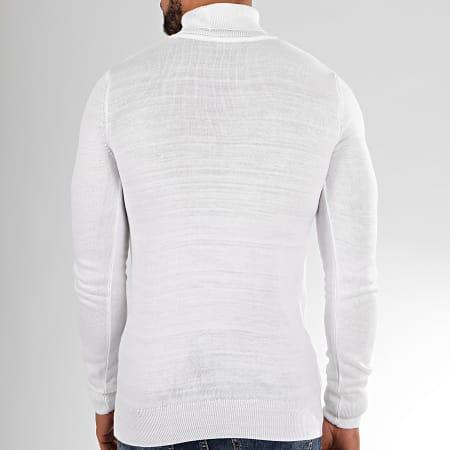 Aarhon - Pull Col Roulé AAP001 Blanc