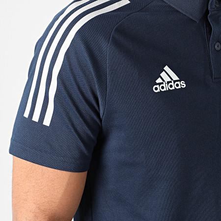 adidas - Polo Manches Courtes A Bandes FEF FI6285 Bleu Marine