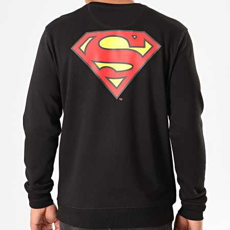 Superman - Sweat Crewneck Original Logo Back Noir