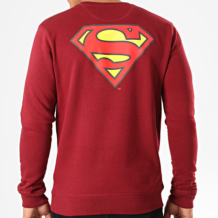 Superman - Sweat Crewneck Original Logo Back Bordeaux
