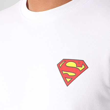 Superman - Sweat Crewneck Original Logo Back Blanc