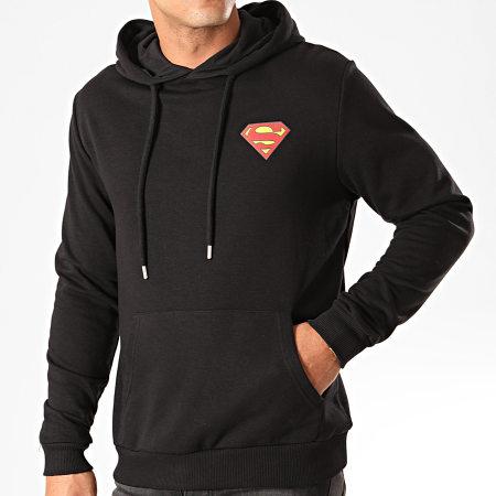Superman - Sweat Capuche Original Logo Back Noir