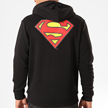 Superman - Sweat Capuche Original Logo Back Noir