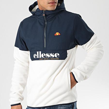 Ellesse - Veste Col Zippé Capuche Esine SHD08128 Ecru Bleu Marine