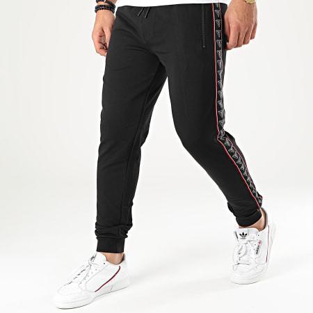 Guess - Pantalon Jogging A Bandes U01Q10-K6XF0 Noir