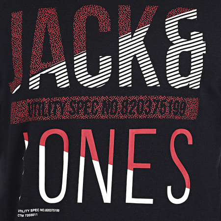 Jack And Jones - Tee Shirt Manches Longues Booth Bleu Marine