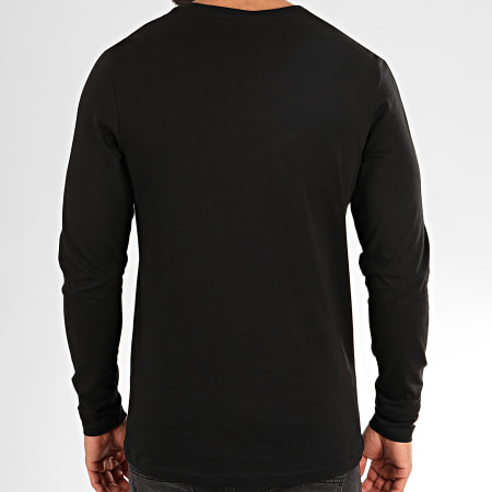 Jack And Jones - Tee Shirt Manches Longues Booth Noir
