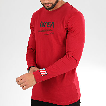 Jack And Jones - Tee Shirt Manches Longues Carlo Rouge