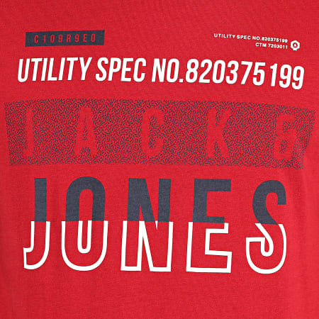 Jack And Jones - Tee Shirt Booth Rouge