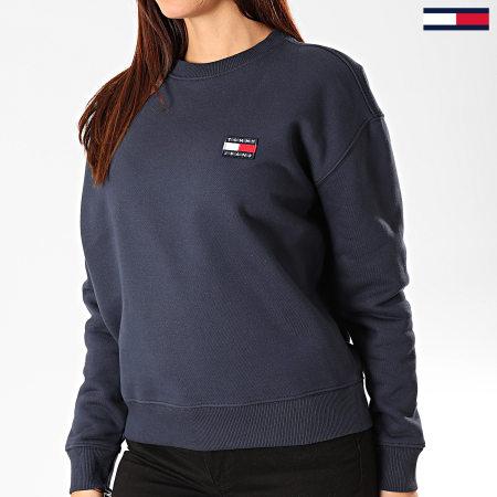Tommy Hilfiger Jeans - Sweat Crewneck Femme Tommy Badge 7786 Bleu Marine