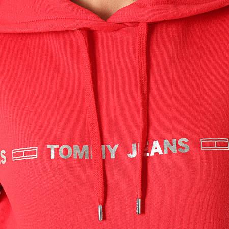 Tommy Hilfiger Jeans - Sweat Capuche Femme Linear Logo 7798 Rouge