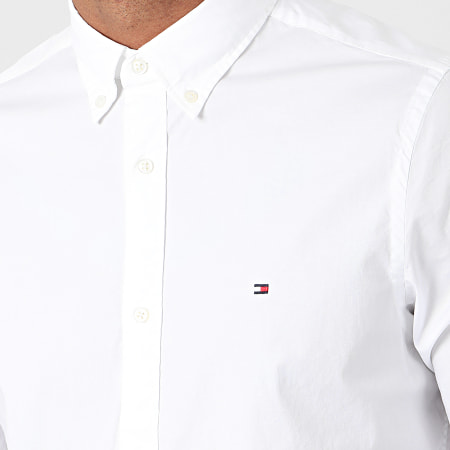 Tommy Hilfiger - Chemise Manches Longues Core Stretch Poplin 4704 Blanc