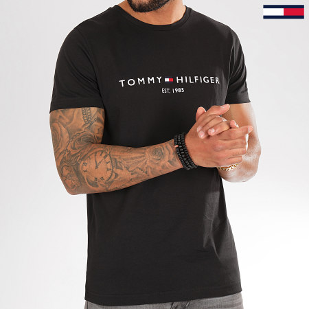 Tommy Hilfiger - Tee Shirt Core Tommy Logo 1465 Noir