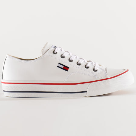 Tommy Jeans - Baskets Leather City Sneakers 0394 White