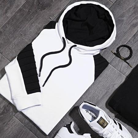 LBO - Sweat Capuche Avec Details Noir 878 Blanc