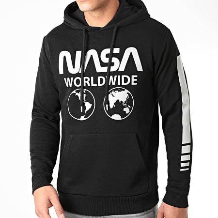 NASA - Sweat Capuche Worldwide Reflective Noir