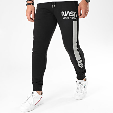 NASA - Pantalon Jogging Worldwide Reflective Noir