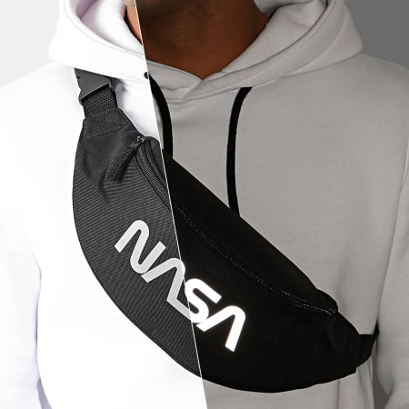 NASA - Sacoche Banane Worm Logo Reflective Noir