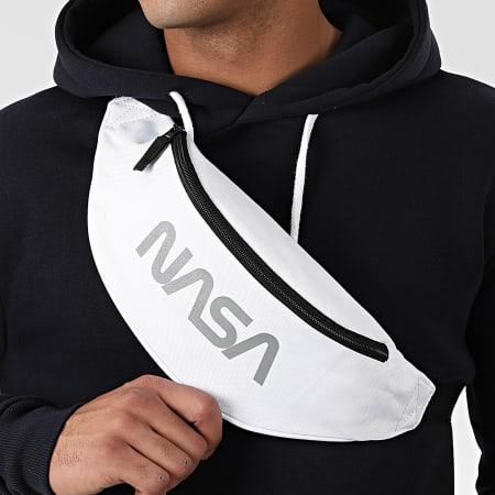 NASA - Sacoche Banane Worm Logo Reflective Blanc