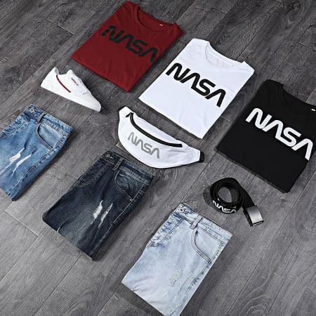 NASA - Tee Shirt Manches Longues Worm Logo Bordeaux