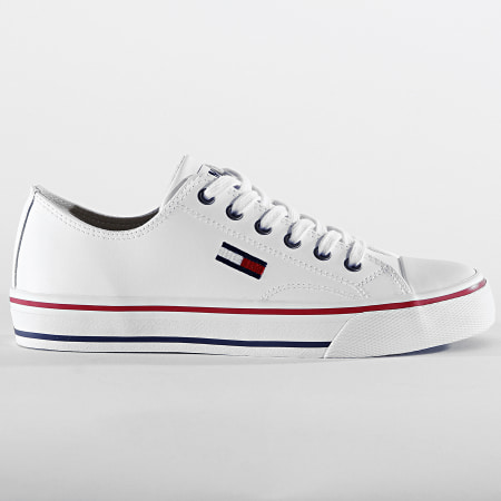 Tommy Jeans - Baskets Femme Leather City Sneakers 0746 White