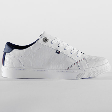 Tommy Hilfiger - Baskets Femme Tommy Jacquard Leather Sneaker 4602 White