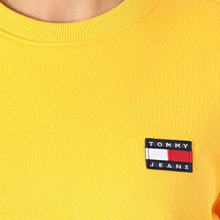 Tommy Jeans - Sweat Crewneck Femme Tommy Badge 7786 Jaune