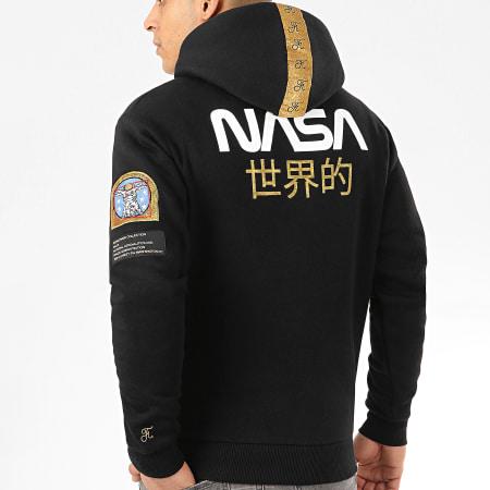 Final Club x NASA - Sweat Capuche Japan Exploration Avec Patchs Et Broderie 343 Noir