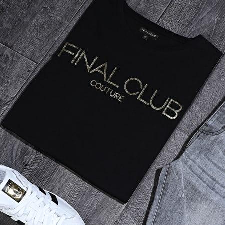 Final Club - Tee Shirt Couture Muscle Fit Avec Logo Or 319 Noir