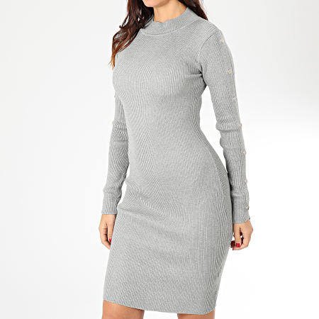 Girls Only - Robe Pull D934 Gris Chiné