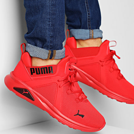 Puma Baskets Enzo 2 193249 High Risk Red Puma Black