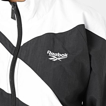 Reebok - Veste Zippée Femme Crop Classic Vector FL9427 Noir Blanc