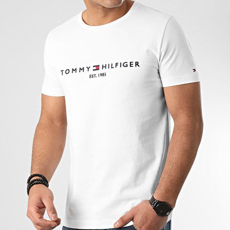Tommy Hilfiger - Tee Shirt Core Tommy Logo 1465 Blanc
