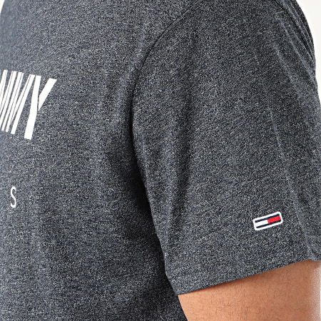 Tommy Hilfiger Jeans - Tee Shirt Tommy Textured 7438 Noir Chiné