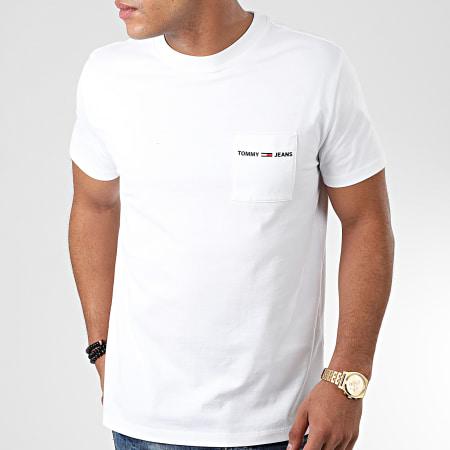 Tommy Hilfiger Jeans - Tee Shirt Poche Logo Pocket 7468 Blanc