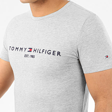 Tommy Hilfiger - Tee Shirt Core Tommy Logo 1465 Gris Chiné