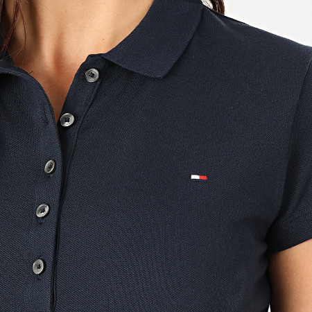 Tommy Hilfiger - Robe Polo Manches Courtes Femme Heritage 4973 Bleu Marine