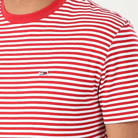 Tommy Hilfiger Jeans - Tee Shirt Classics Stripe 5515 Rouge Blanc