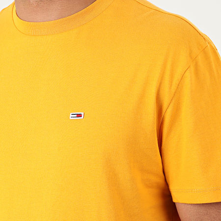 Tommy Jeans - Tee Shirt Tommy Classics 6061 Jaune Moutarde