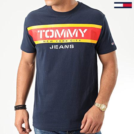 Tommy Jeans - Tee Shirt Panel Logo 7434 Bleu Marine