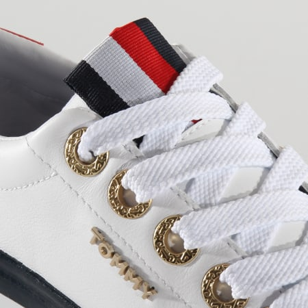 Tommy Hilfiger - Baskets Femme Leather Elevated 4600 White