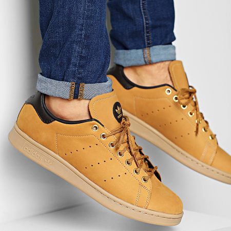 adidas - Baskets Stan Smith EG3075 Mesa Nubuck Brown Equipment Yellow