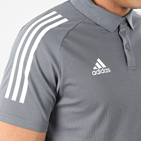 adidas - Polo Manches Courtes A Bandes DFB FI0771 Gris