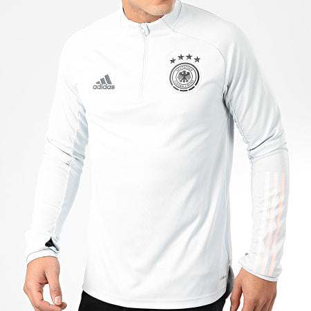 adidas - Sweat Col Zippé DFB FS7043 Gris Clair