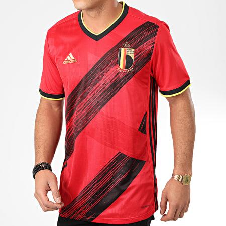 adidas - Tee Shirt De Sport A Bandes RFBA EJ8546 Rouge