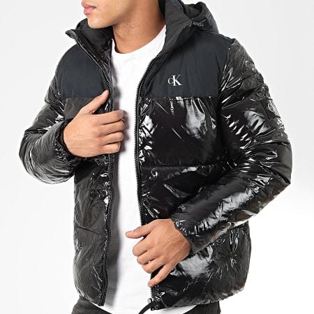 Calvin Klein Jeans - Doudoune Capuche High Shine 4075 Noir