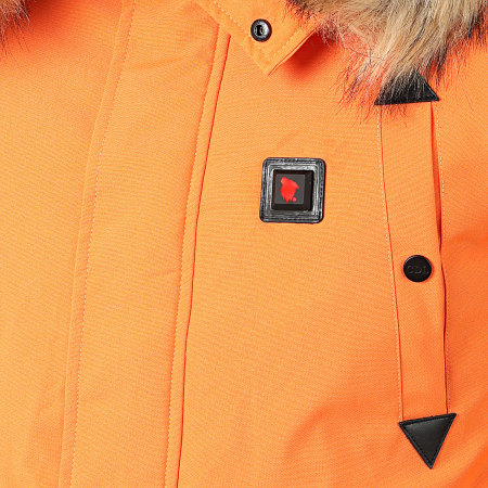 Comme Des Loups - Doudoune Fourrure Chauffante Chicago Orange