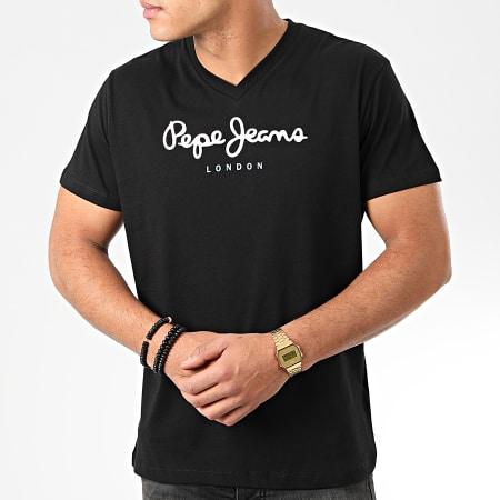 Pepe Jeans - Tee Shirt Col V Eggo V PM501389 Noir
