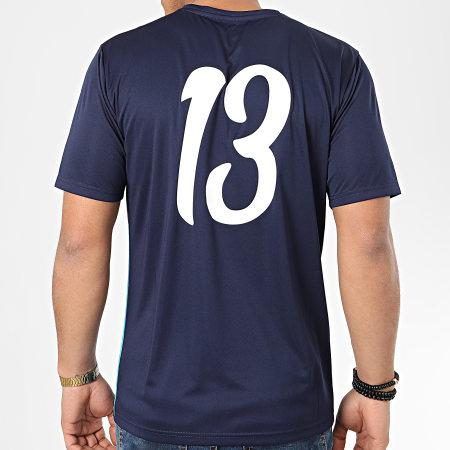 Puma - Tee Shirt De Sport OM Acid 756989 Bleu Marine