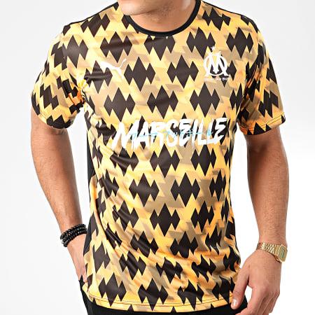 Puma - Tee Shirt De Sport OM Showdown 756990 Orange Noir